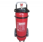 Foam wheeled fire extinguisher